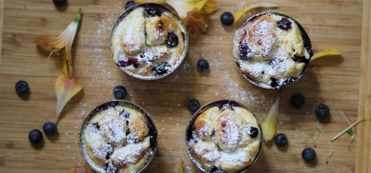 High Protein Blueberry Cheesecake Muffins
